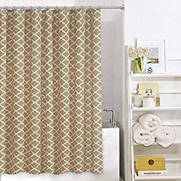 Amazon Colordrift Whirlwind Shower Curtain Taupe White Home