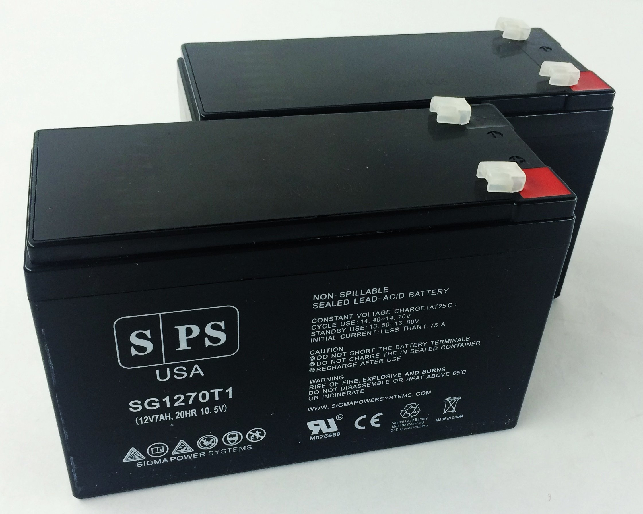 12V 7Ah (From SPS) APC Powercell Professional UPS Replacement Battery ( 2 Pack)