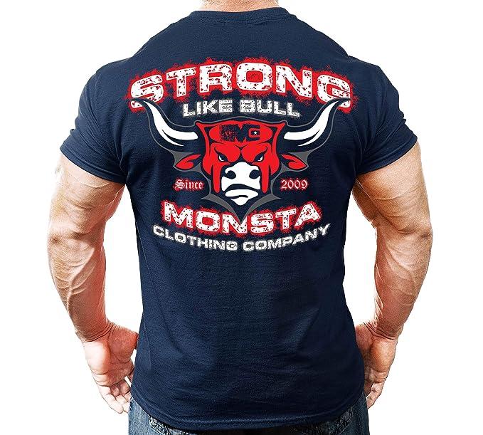 c435aaa94c9b Monsta Clothing Co. Men's Bodybuilding Workout (Strong Like Bull) Gym  T-Shirt