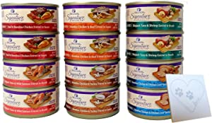 Wellness Core Natural Grain Free Signature Selects Wet Cat Food Variety Pack - 6 Flavors (Chicken, Beef, Salmon, Tuna & Salmon, Tuna & Shrimp, and Chicken Liver) 2.8 Ounces Each (12 Total Cans)