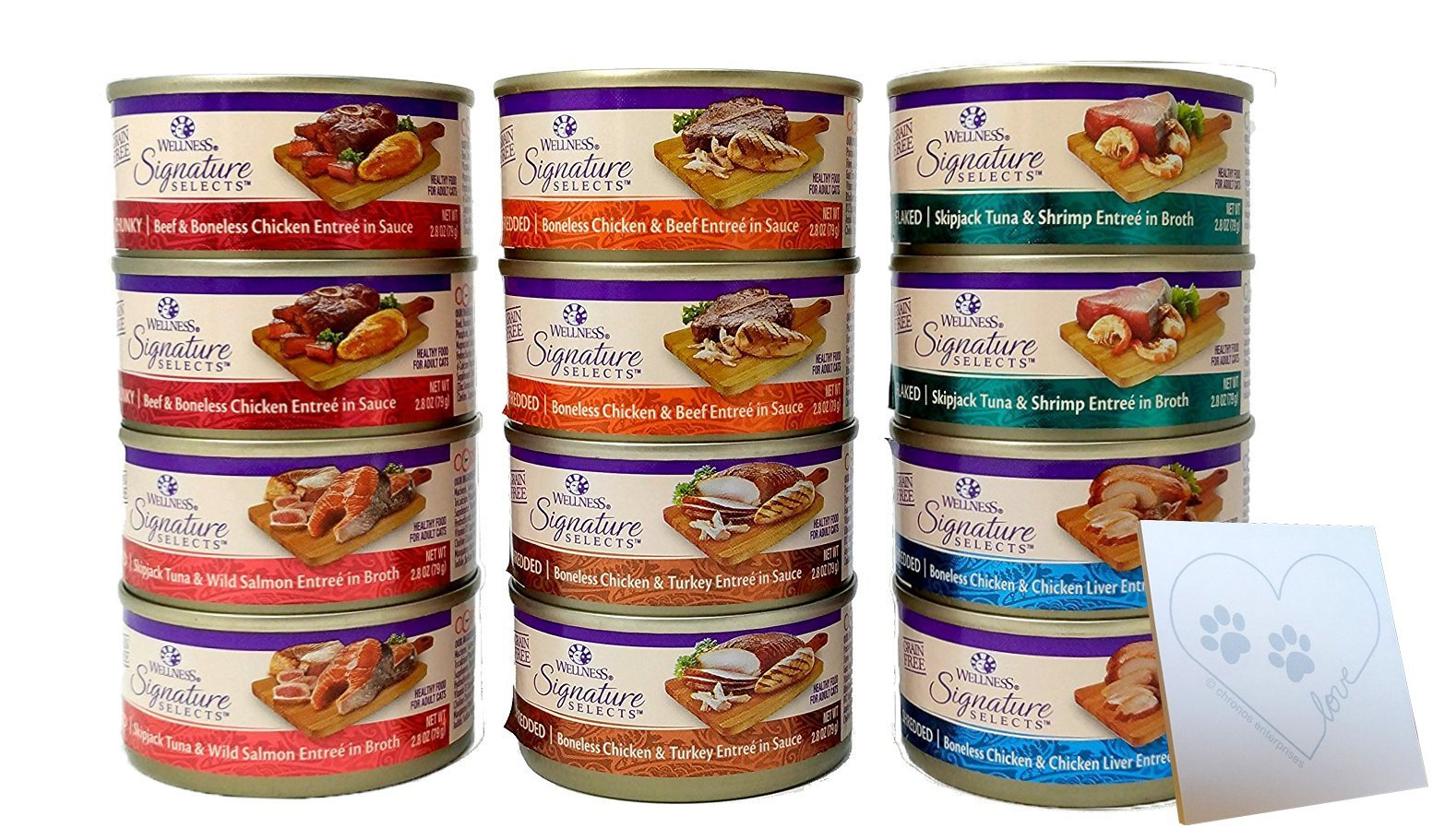 Wellness Core Natural Grain Free Signature Selects Wet Cat Food Variety Pack is the best Wellness Cat Food? Our review at cattime.com uncovers all pros and cons.