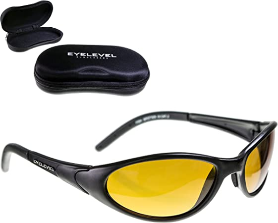 Fish de SPOTTER + Hardcase | polarizador de plástico ligero Gafas Pol–Gafas de pesca con protección UV400(UV a/b) | entspiegelt superficies | bruchsichere de agua de plástico Vasos