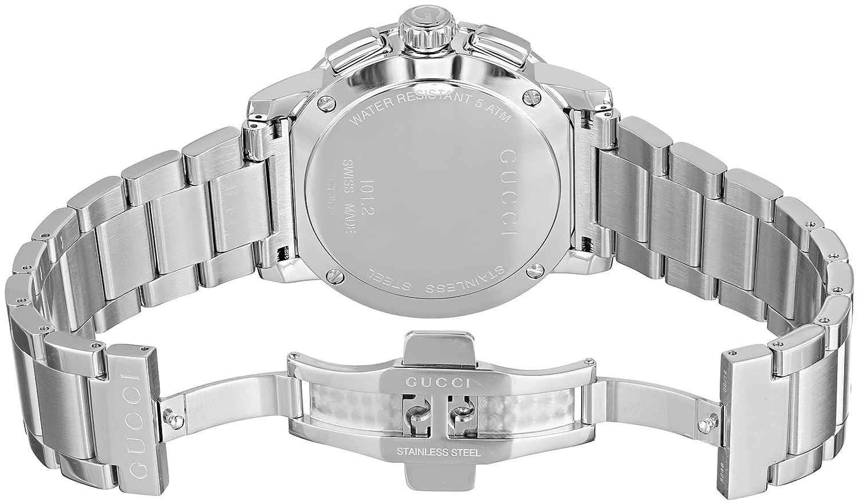 42a57cd0b8e Amazon.com  Gucci G - Chrono Collection Analog Display Swiss Quartz Silver  Men s Watch(Model YA101201)  Watches