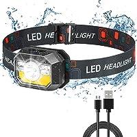 ACKVGOI Rechargeable Headlamp LED Headlamp with 1500 Lumens headlamp Flashlight 9 Brightness Modes Adjustable Headband…