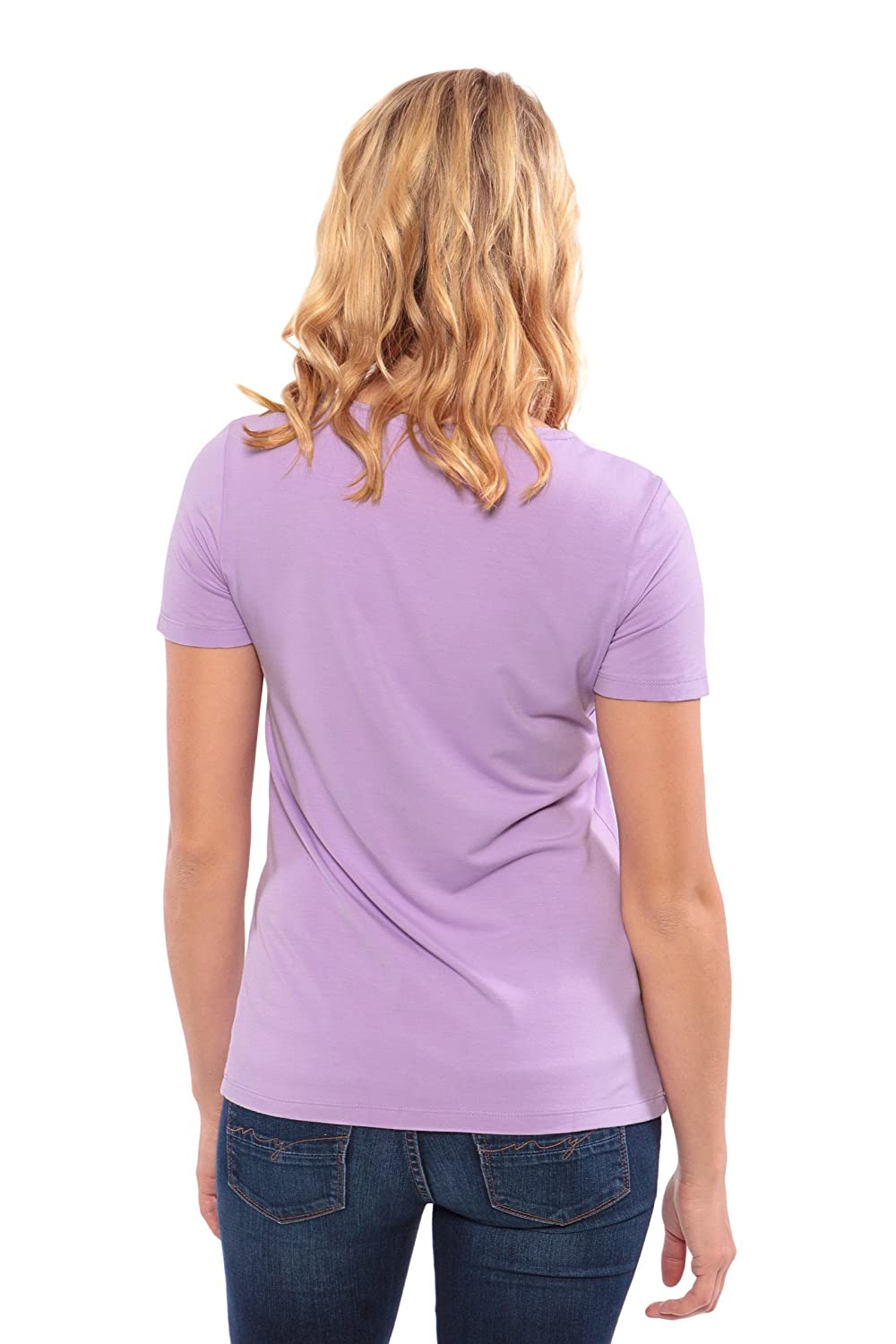 Womens Short Sleeve T-Shirt Bamboo Viscose Top by Texere Spring Zing