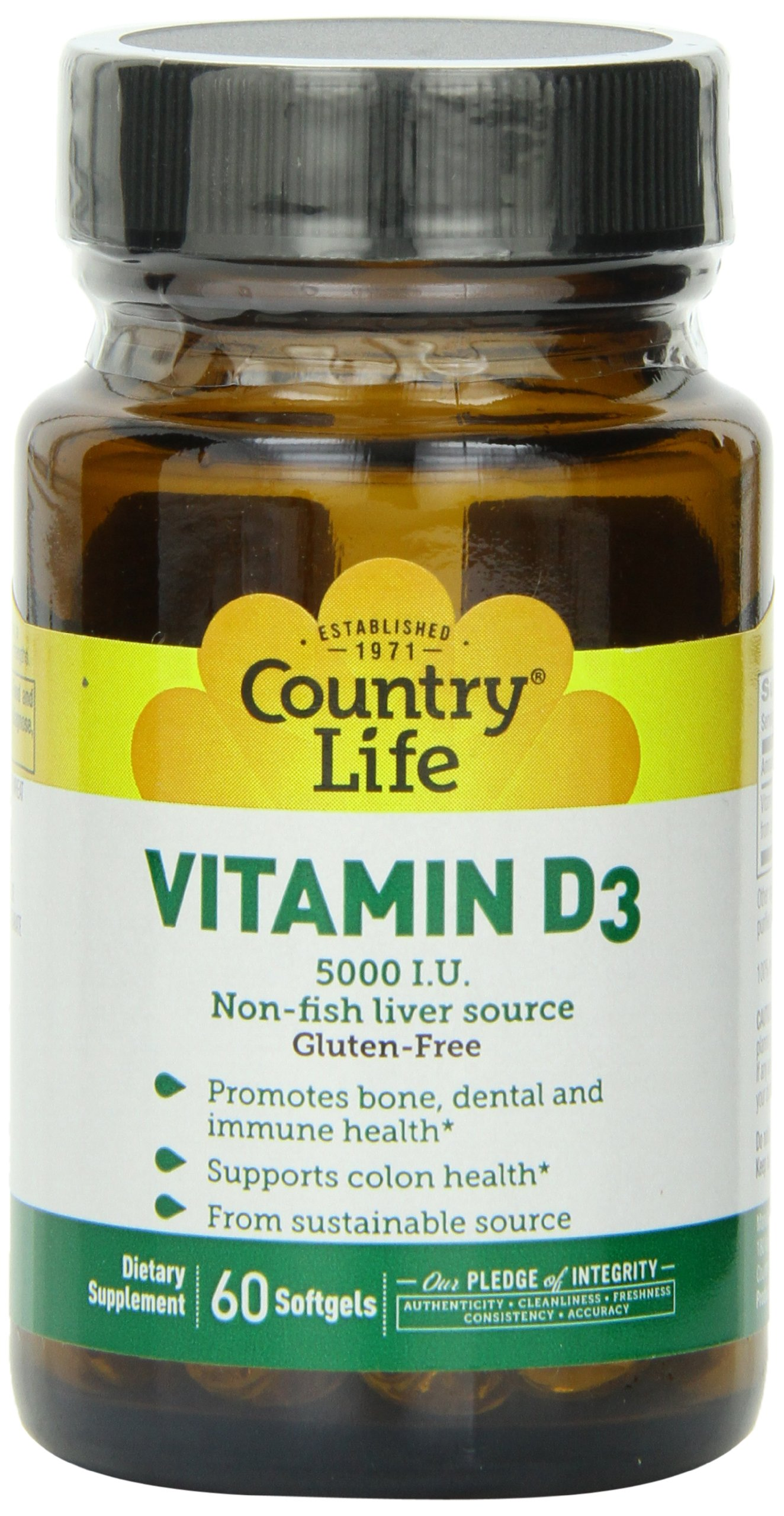 Country Life Vitamin D3 5 I.u., 60-Count (Pack of 2)