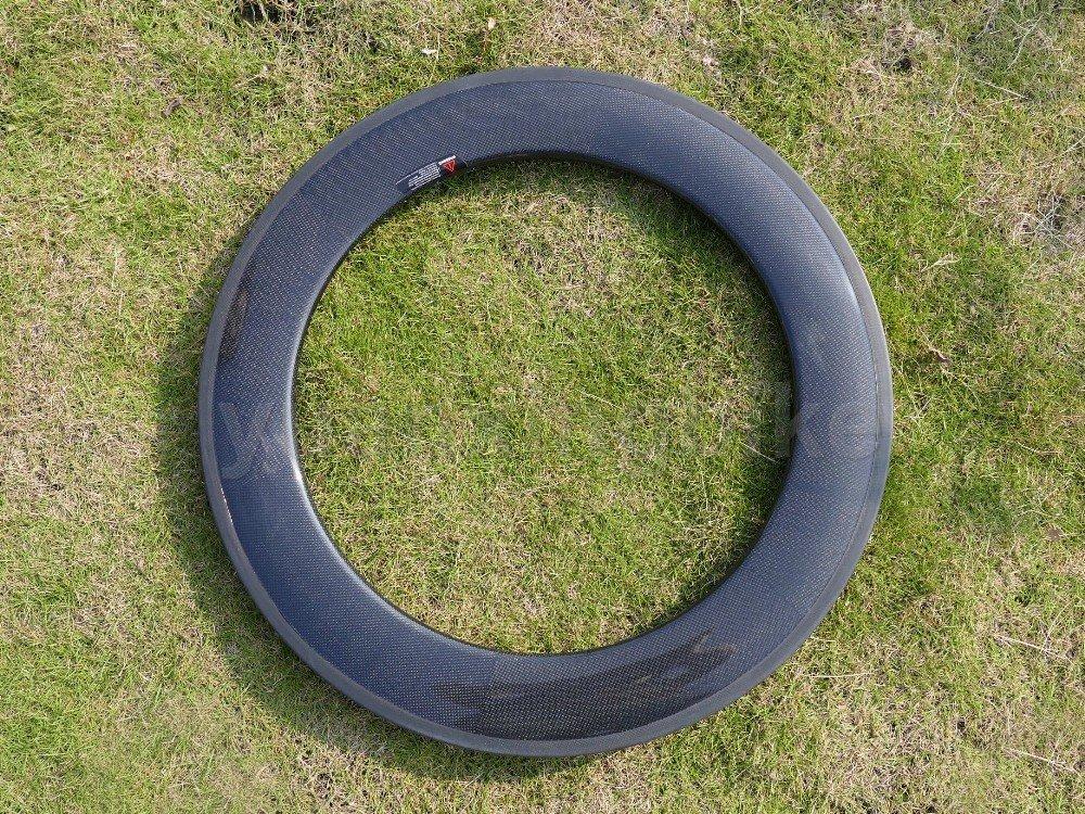 Toray carbone intégrale Jantes carbone UD Mat pour vélo de route Pneu de jante 88mm basalte Frein côté Largeur 20,5mm/trous: 20, 24 5mm/trous: 20 yuanxingbike