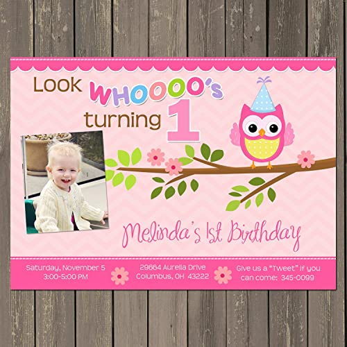 Amazon Owl Birthday Invitation Owl 1st Birthday Invitation