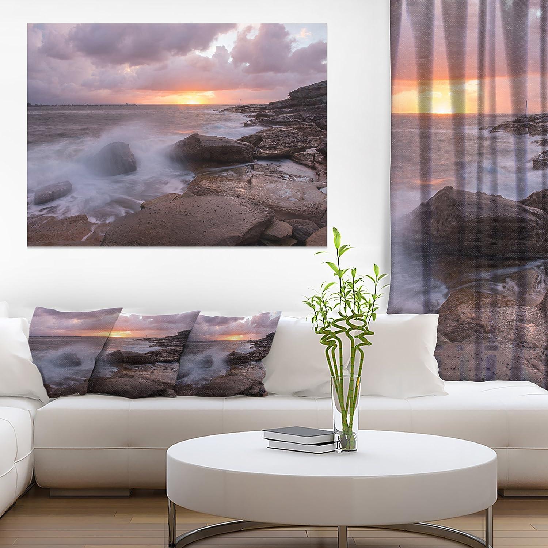 Amazon Com Stormy Waves In Beautiful Australia Beach Large Seashore Canvas Print Posters Prints