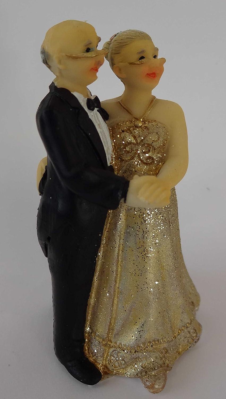 Goldpaar Goldhochzeitspaar 50hochzeitstag Figur Goldene