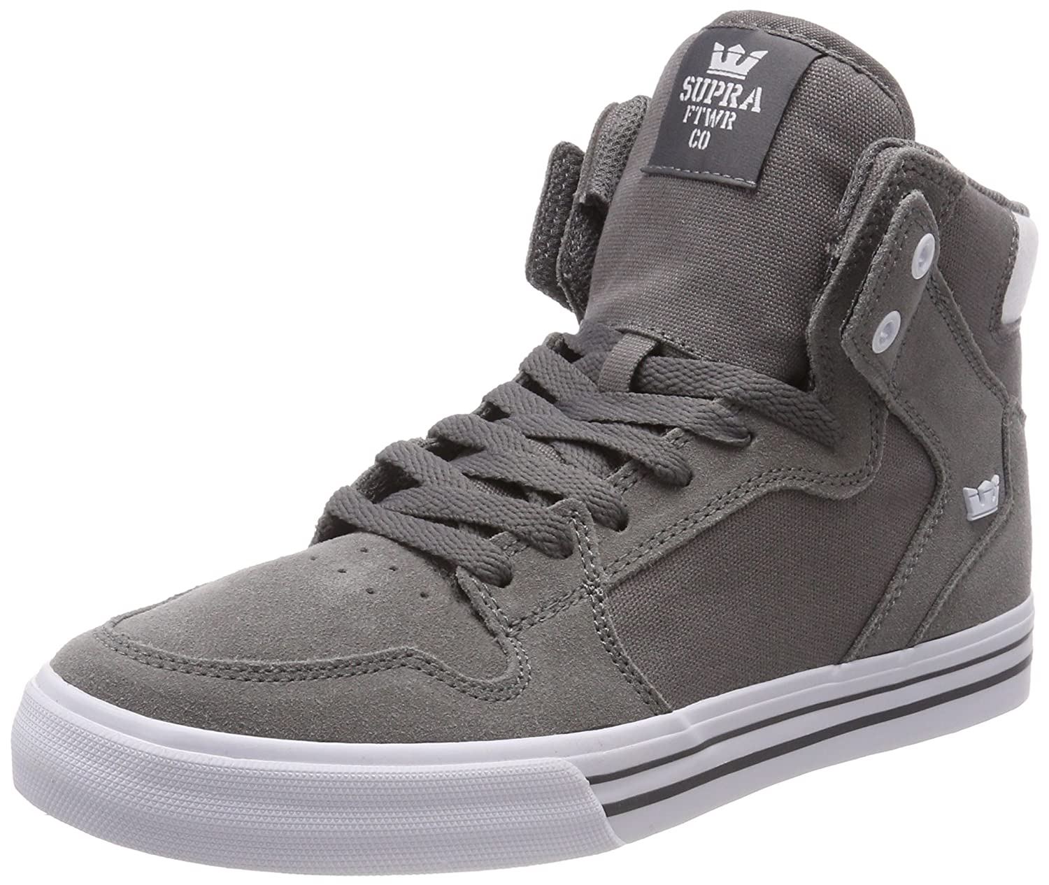 Supra Vaider LC Sneaker B074KMNG33 12 M US|Charcoal-white