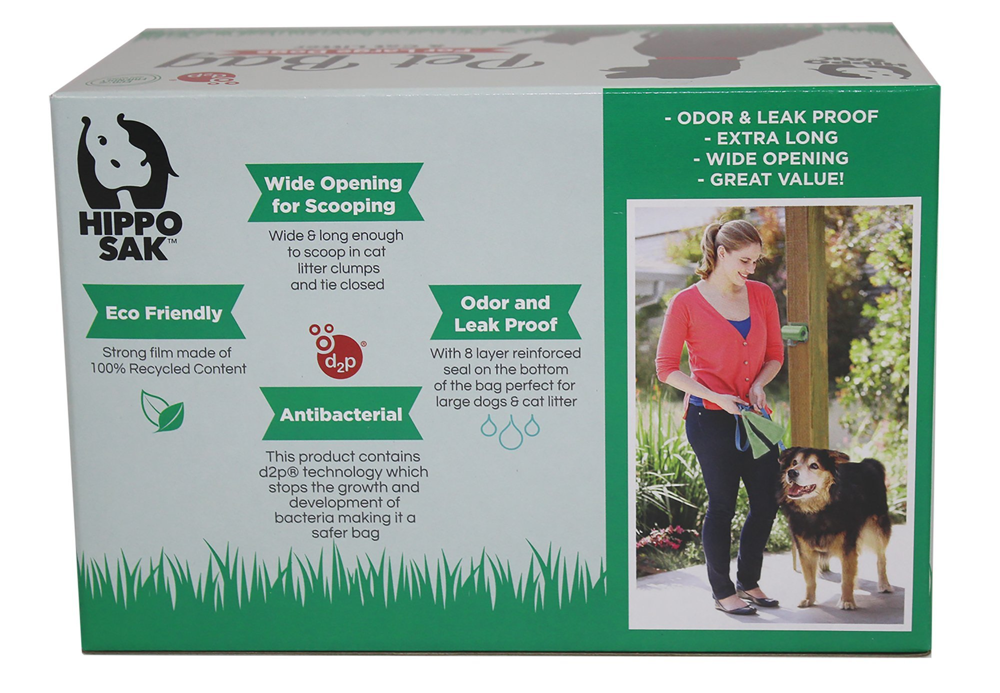 Hippo Sak Extra Large Pet Poop Bags for Large Dogs and Cat Litter, 240 Count by Hippo Sak (Image #2)