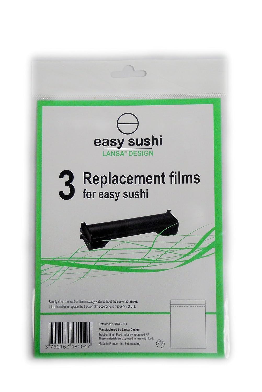 Easy Sushi Maker Sushiroller /Ø 2,5 3er-Set Ersatzfolien Gratis