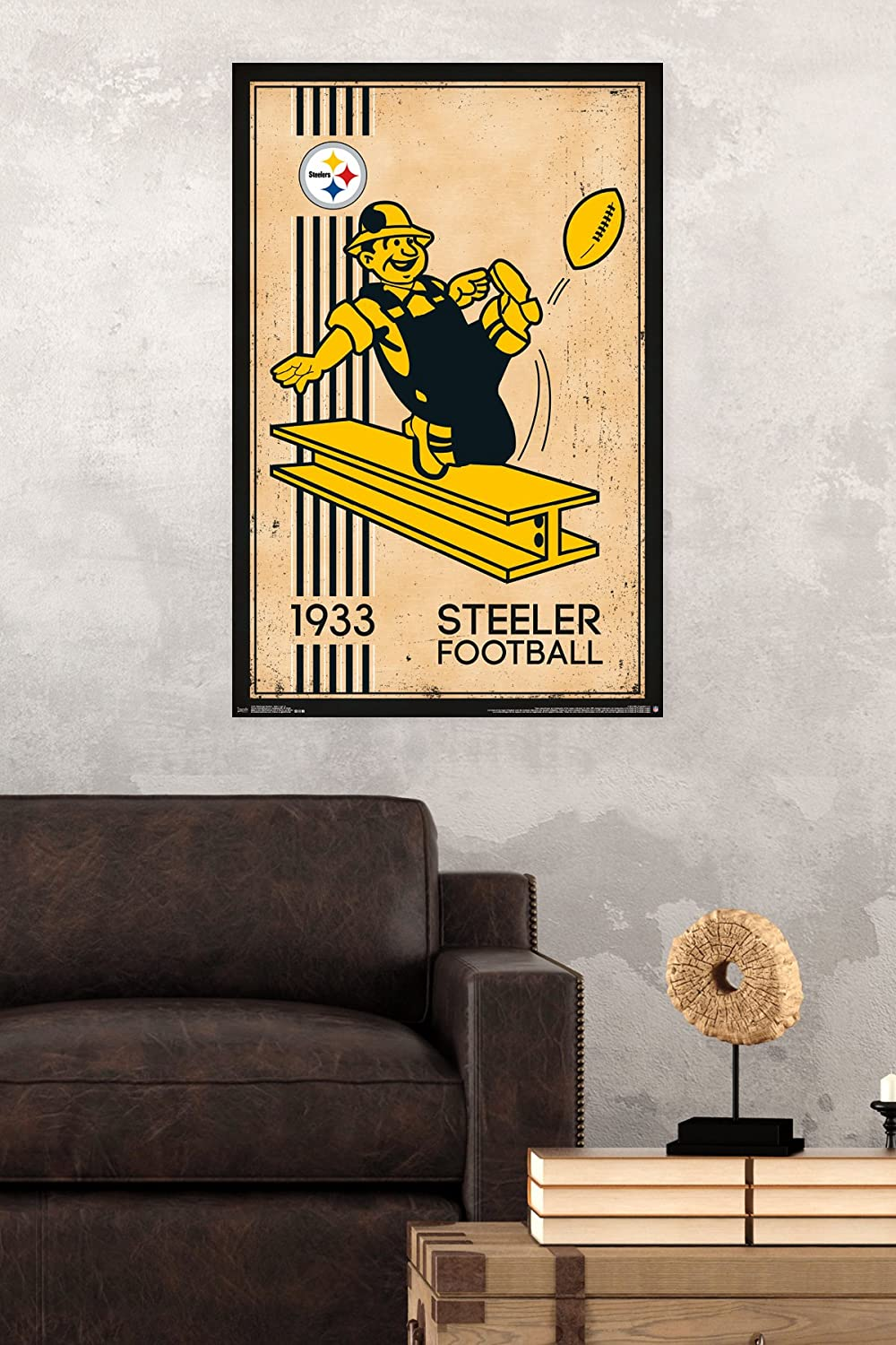 Amazon.com: Trends International Pittsburgh Steelers Retro Logo Wall ...
