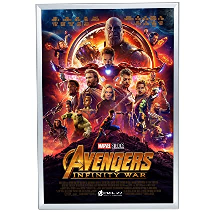 Amazon.com - SnapeZo Movie Poster Frame 24x36 Inches, Silver 1.25 ...