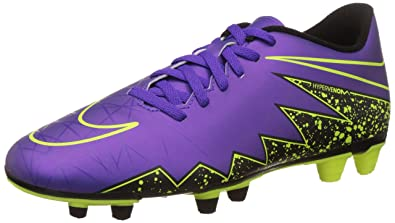 New Nike Men's Hypervenom Phade II FG Soccer Cleat Grape/Volt 7.5
