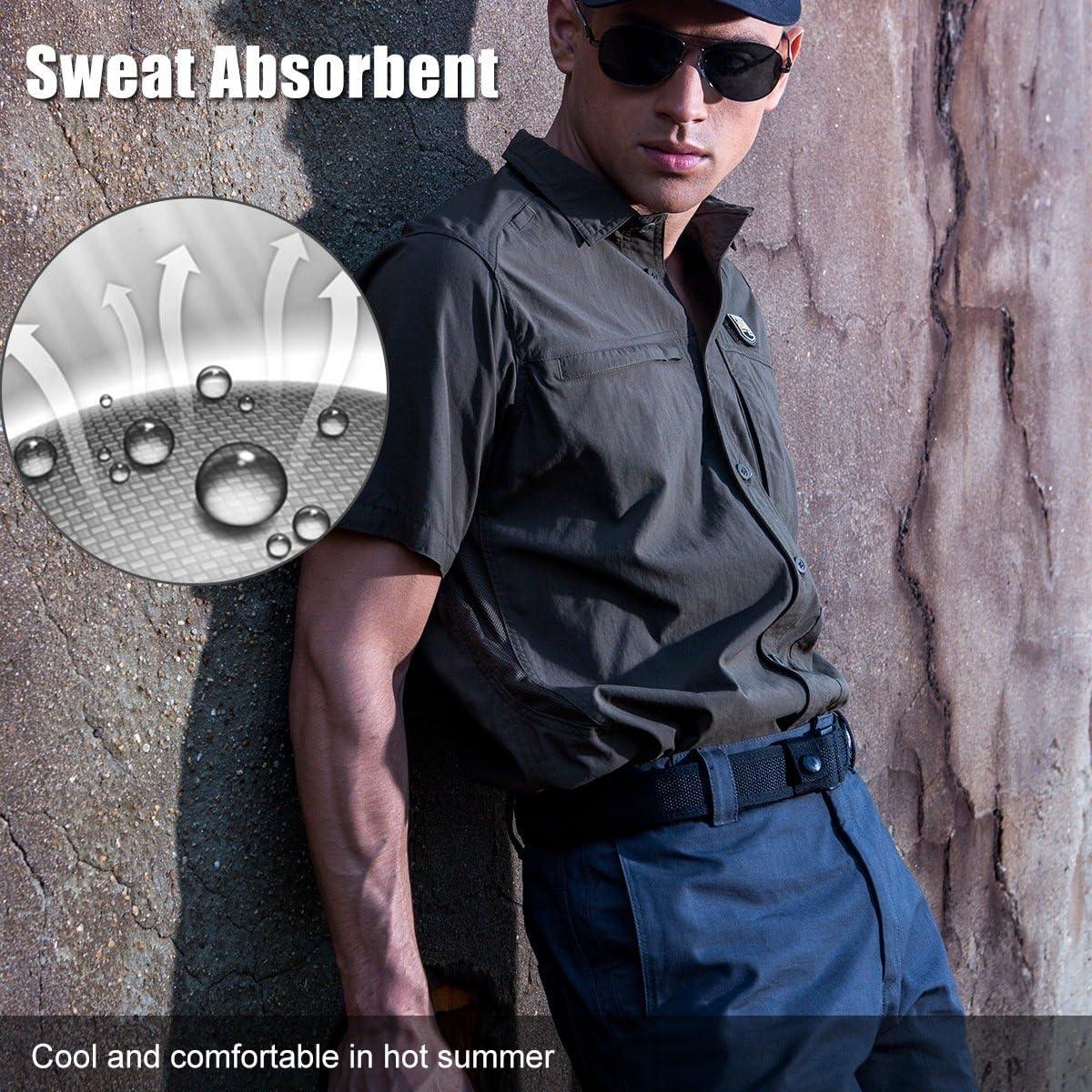 FREE SOLDIER Outdoor Uomo Maglietta Manica Corta Cordura Tessuto ad Asciugatura Rapida Camicia