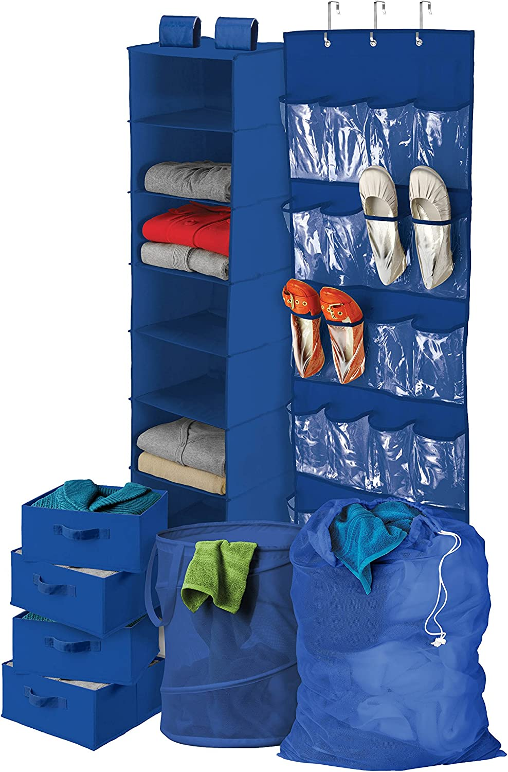 Honey-Can-Do BTS-01587 Back To School Home Organization Kit, Blue