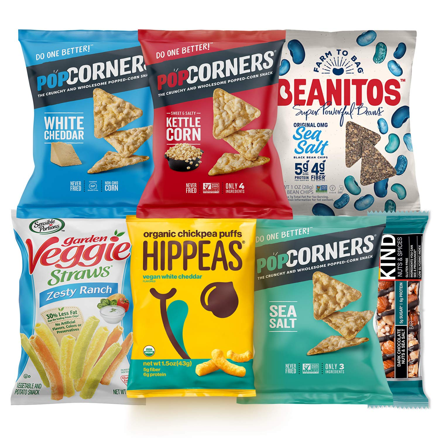 Premium NON GMO & Gluten Free Gourmet Healthy Snacks Gift Box Care Package Variety Pack (15 Count) by Variety Fun by Custom Varietea (Image #2)