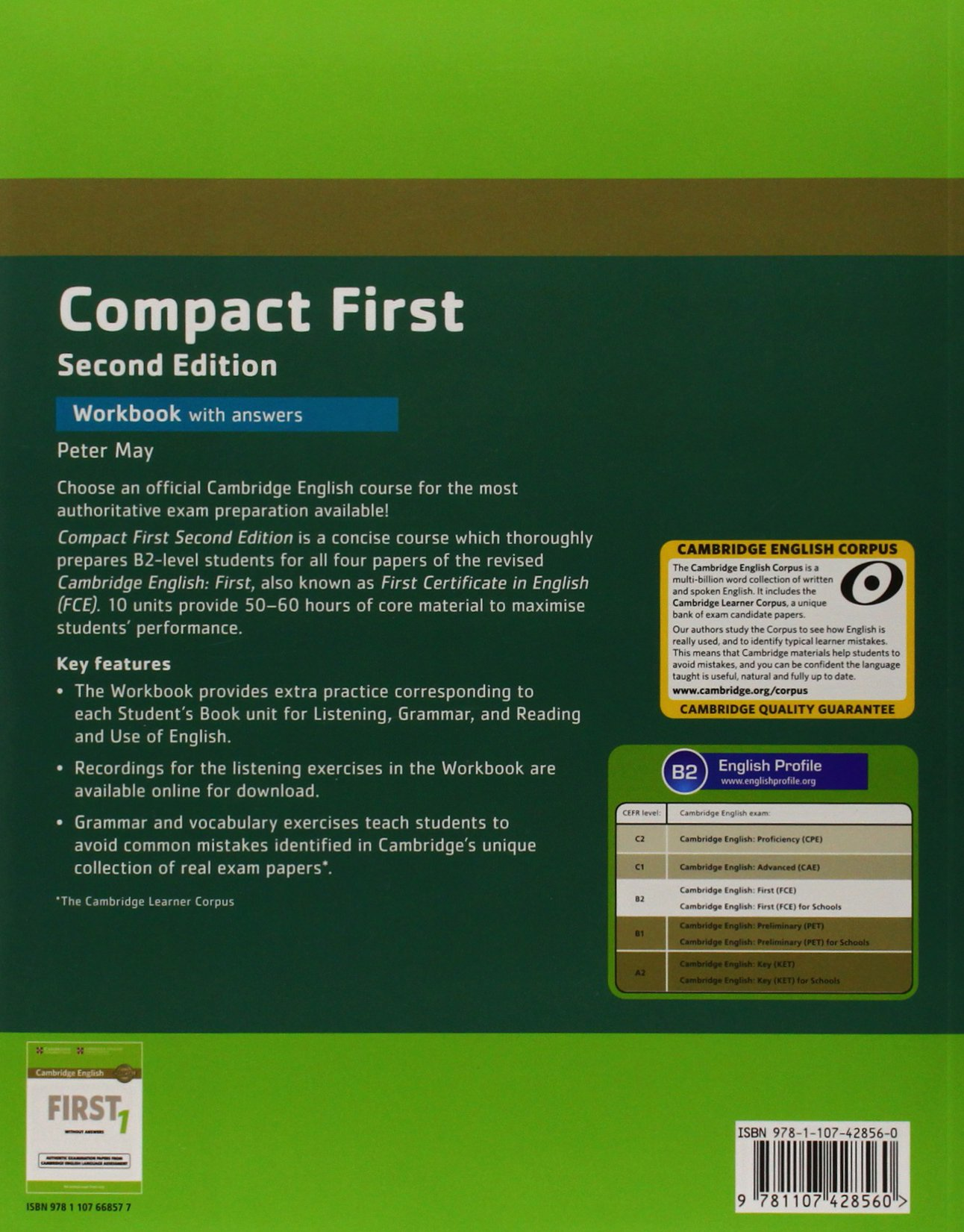 Compact First Workbook with Answers with Audio Second Edition: Amazon.es: May,Peter: Libros en idiomas extranjeros