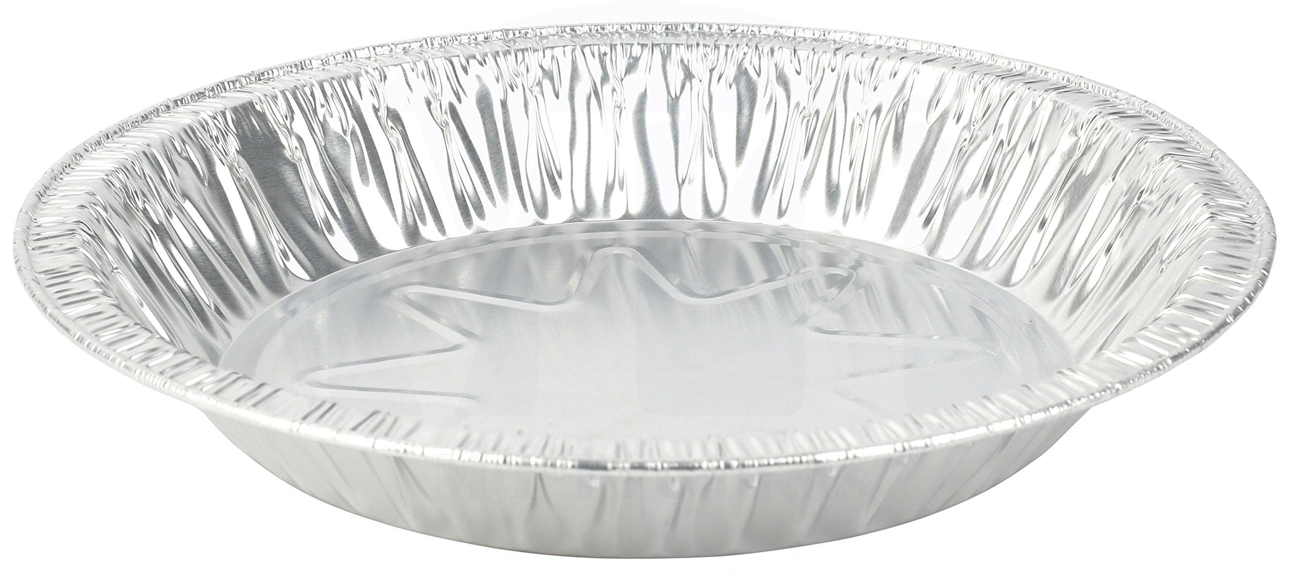 MT Products 8 Inch Outer Rim Disposable Aluminum Foil Tart/Pie Pan 1.25'' Deep - Inside Measures 7 inches x 1.25 inches -(Thicker 45 Gauge) (35 Pieces) by MT Products