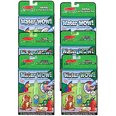 Melissa & Doug On The Go Water Wow! Activity Book, 6-Pack - Animals Bundle Toy: Toys & Games