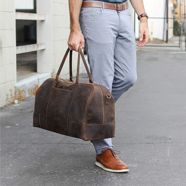 bucksaw weekender bag fuer herren braun