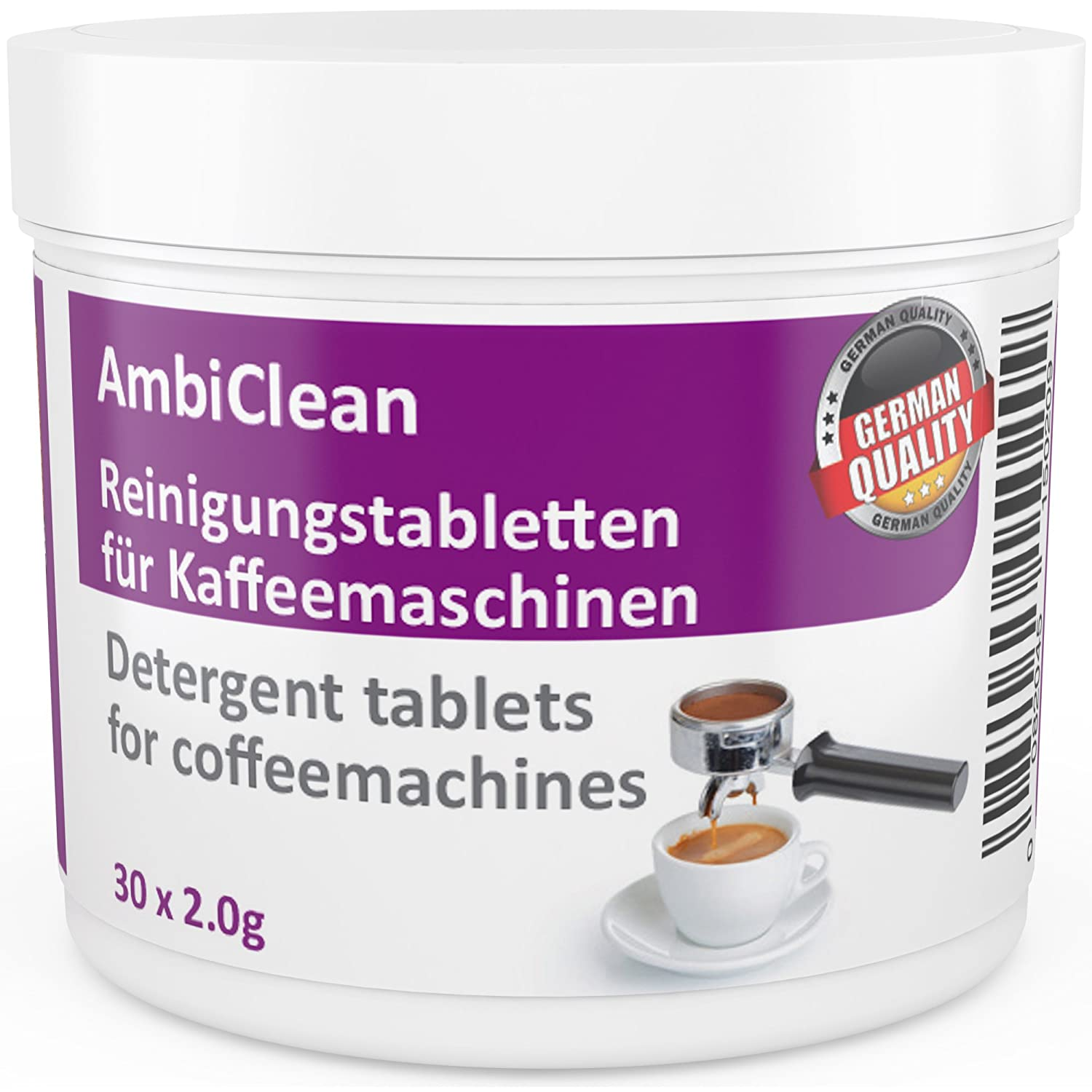 30 Cleaning Tablets for Coffee Machines Cleaner compatible with Jura Siemens Bosch Nescafe Andrew James Delonghi and many more for Automatic Filter Pad Capsule Machine Ambideluxe