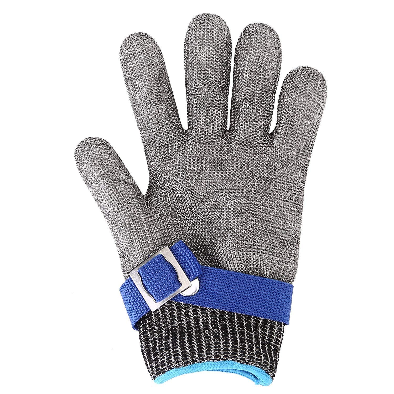 OCGIG Gant Anti Coupure Protection de Niveau 5 Multifonction pour Jardinage Cuisine Bricolage -XXL