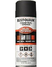 Rust-Oleum Corporation 1676830 1678830 Spray Paint, Black, 12 oz, 12-Ounce, Semi-Flat