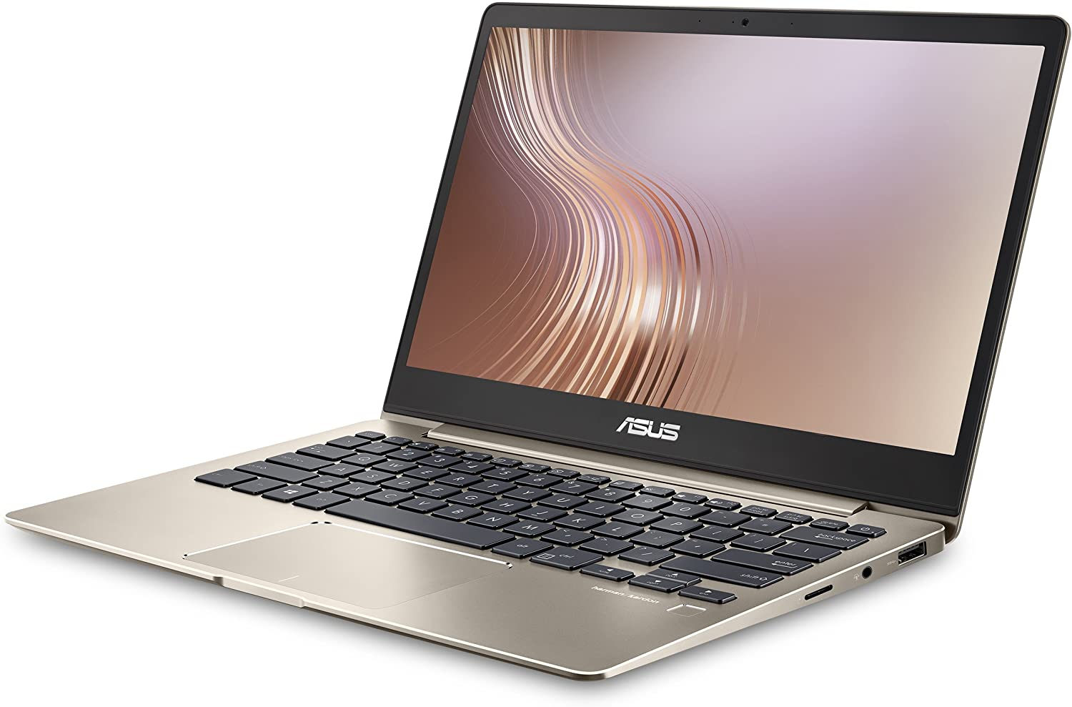 "ASUS ZenBook 13 UX331UA Ultra-Slim Laptop 13.3"" Full HD WideView display, 8th gen Intel Core i7-8550U Processor, 8GB LPDDR3, 256GB SSD, Windows 10, Backlit keyboard, Fingerprint, Icicle Gold"