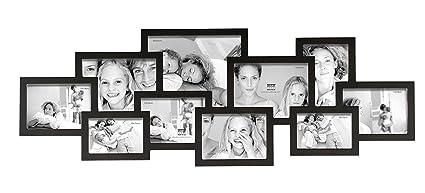 Deknudt Frames S65SL2 .0X.0 Cadre Multi Photos Avec 10 Ouvertures Noir