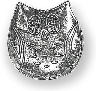 product image for Crosby & Taylor Owl Pewter Teabag Holder Trinket Dish