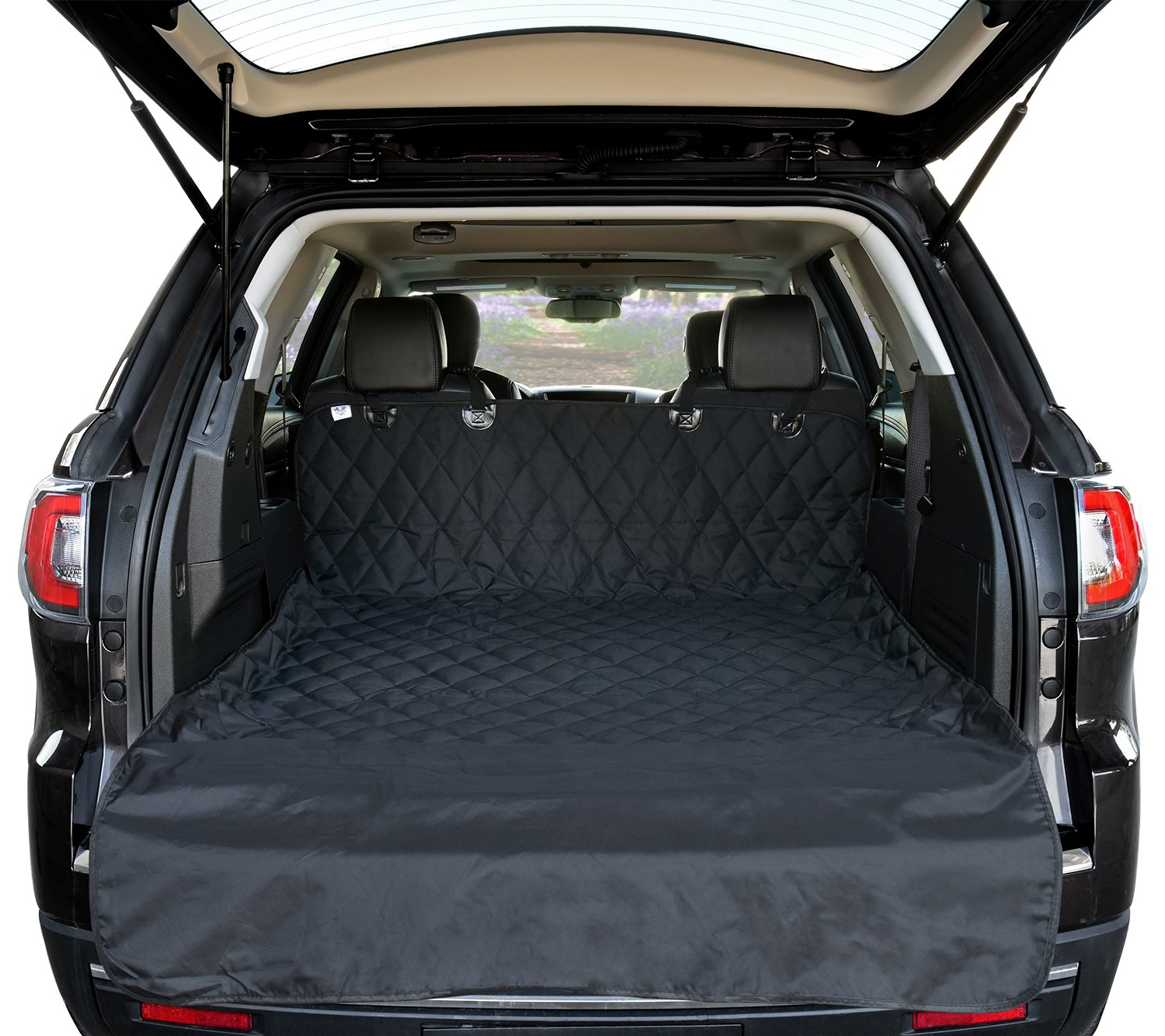 Arf Pets SUV Cargo Liner Cover for SUVs and Cars, Waterproof Material, Non Slip Backing, Extra Bumper Flap Protector, Large Size - Universal Fit by Arf Pets