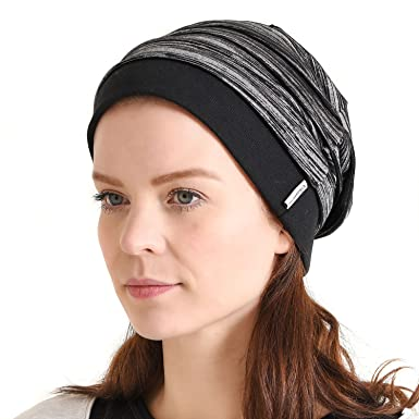 Casualbox Charm Mens Womens Slouch Beanie Hat Light Weight Cooling Dye  Effect Japanese Black 5c4c21ad25f8