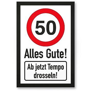 Dankedir 50 Tempo Drosseln Kunststoff Schild Alles Gute
