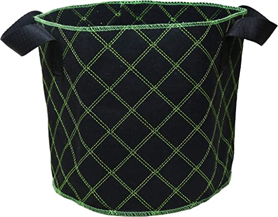 38Litres 5-Pack Soft-Sided Garden Grow Bags with Breathable KENE Premium 10 Gallon Eco-Friendly Stitched Material