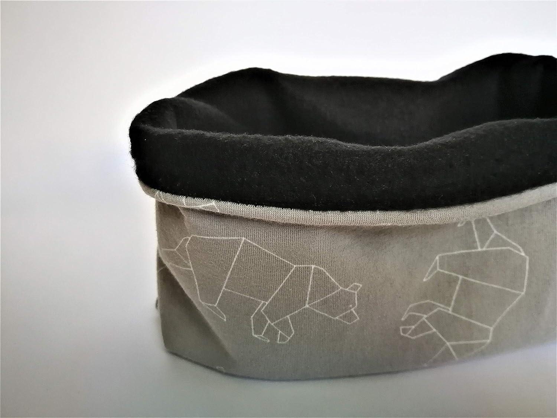 Braga de cuello polar color gris con figuras de osos de origami ...