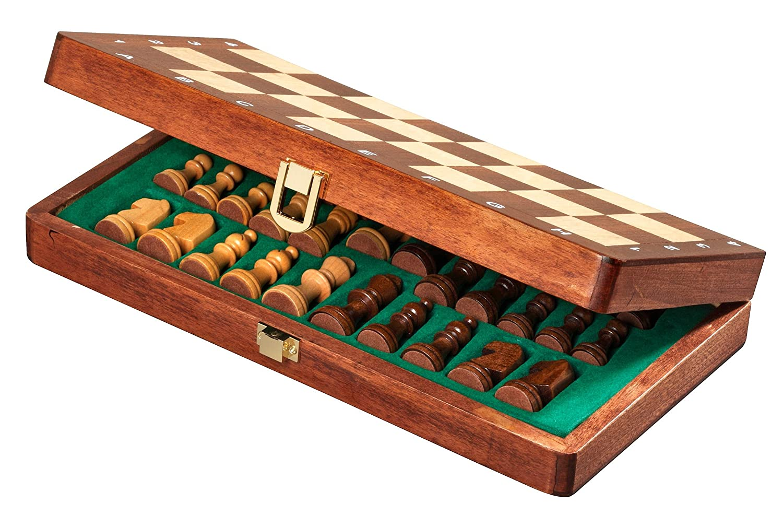 Königshöhe 48 mm magnetisch Königshöhe 48 mm Philos-Spiele Philos/_2710 Holzspiele Reiseschach Philos 2710 Feld 30 mm