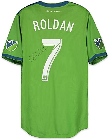 hot sales bc88b f1c7b Cristian Roldan Seattle Sounders FC Autographed Match-Used ...