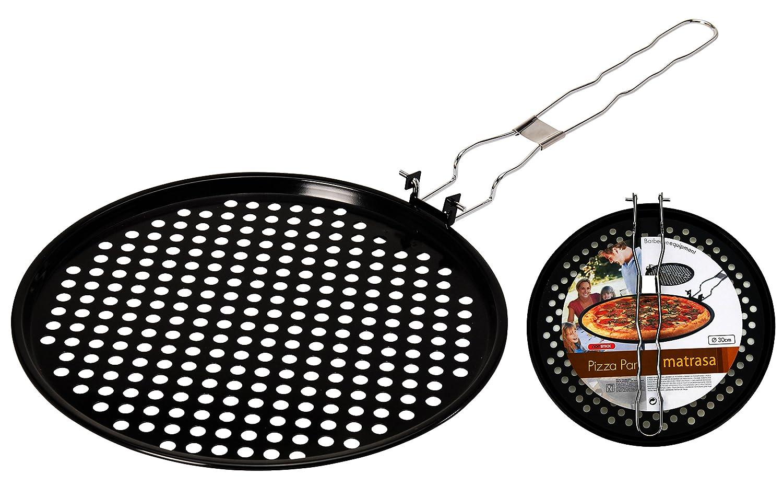 33 cm Grillpfanne gelocht und flach für Pizza Fleisch und Gemüse Pizzablech