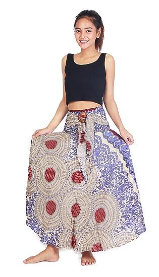 f451a838a3d4f Chinrada Shop Women's Long Bohemian Boho Dress Style Gypsy Hippie Skirt.