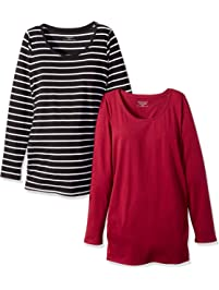 Motherhood Maternity Women s Maternity Bumpstart 2 Pack Long Sleeve Tee  Shirts 33167091668ff