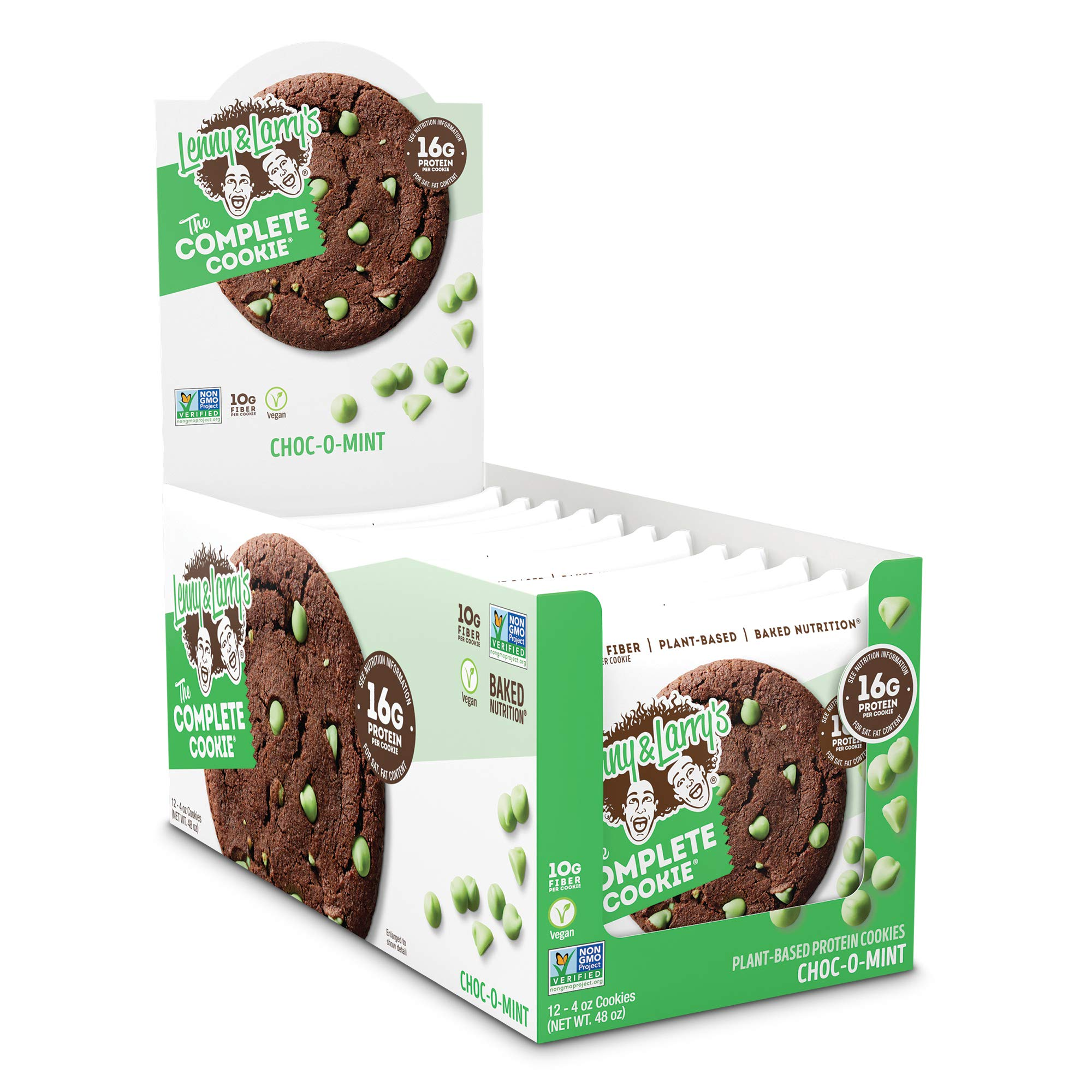 Lenny & Larry's The Complete Cookie, Choco-O-Mint, 4 Ounce Cookies - 12 Count, Soft Baked, Vegan and Non GMO Protein Cookies by Lenny & Larry's