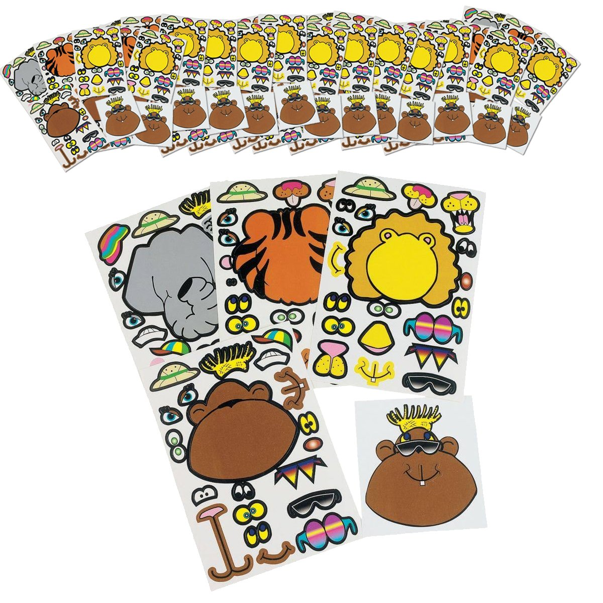 Safari Zoo Animal Party Favors 120 Piece Set Includes Treat Boxes and Enough Party Favors Birthday Bundle for 12 Kids Jungle Animal Party Supplies Pack by RBBZ party (Image #5)