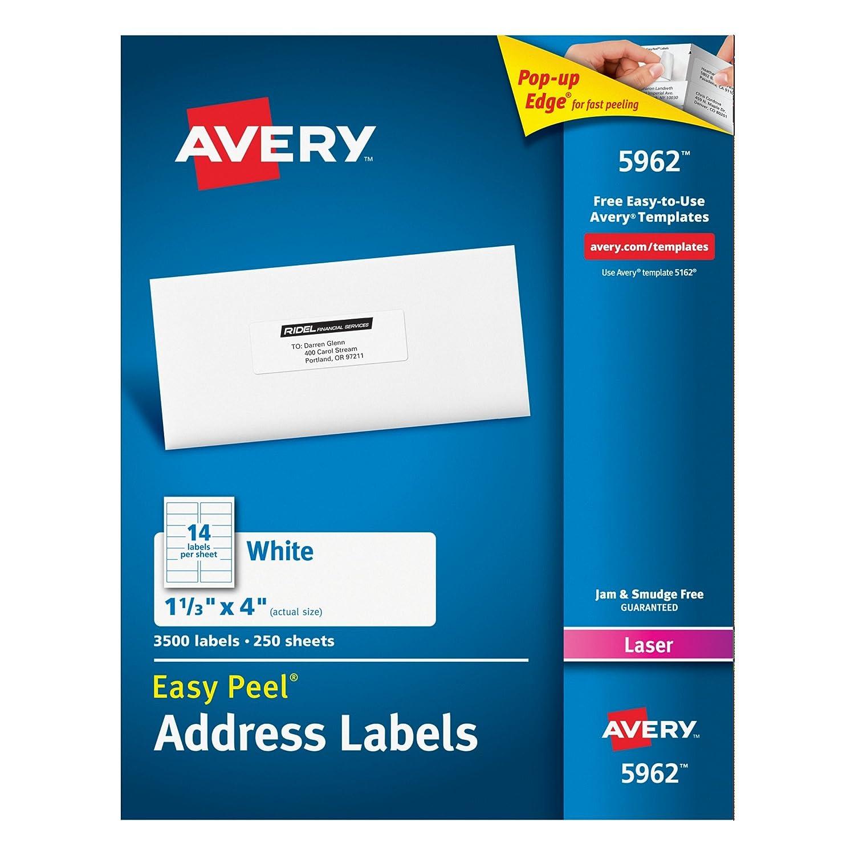Amazon.com : Avery Easy Peel Address Labels for Inkjet Printers 1 ...