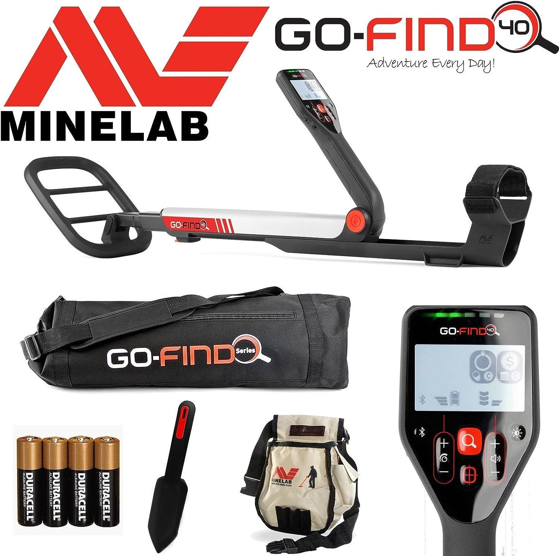 Detector de metales MINELAB go-find 40, con bolsa, pala de cavar ...