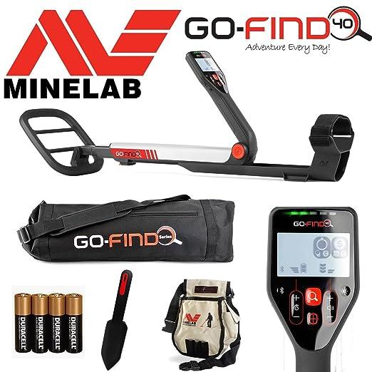 Detector de metales MINELAB go-find 40, con bolsa, pala de ...