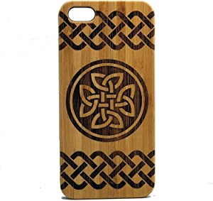 Celtic Knot iPhone 8 Plus Case/Cover by iMakeTheCase | Eco-Friendly Bamboo Wood Phone Cover | Druid Irish Quaternary Dara Knot Tattoo St. Patrick's Day