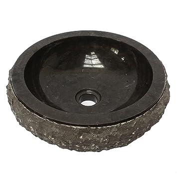 Vasque En Marbre Lavabo Lave Mains Lavabo Coque à Laver 36 Cm Pierre